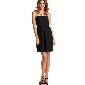 LOFT Casual Strapless Bustier Little Black Dress